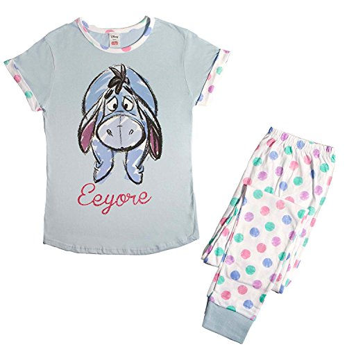 - 51CeyDnks3L - Womens Winnie the Pooh Eeyore Hearts T-Shirt Top Pyjamas Plus Sizes from 8 to 22