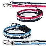 Eskadron Hundehalsband + Leine Set Pink-White-Navy (431838746), Größe:XL, Farbe:Pink