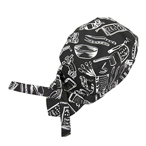 Gazechimp Piraten Mütze Chef Hut Mütze Chefkappe Kochmütze für Kostüm Party - Messer Gabel (Messer Kostüme Löffel Gabel)