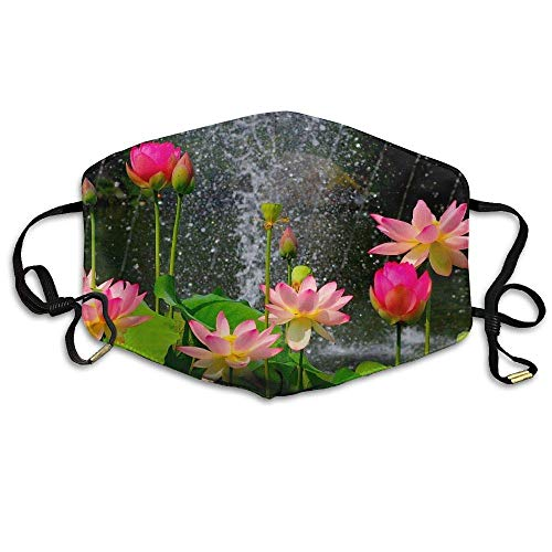 Art Print Schüssel (Rghkjlp Water Lily Lotus Flower Art Print Printed Mask Neutral Mask for Men and Women Polyester Dust-Proof Breathable Mask)