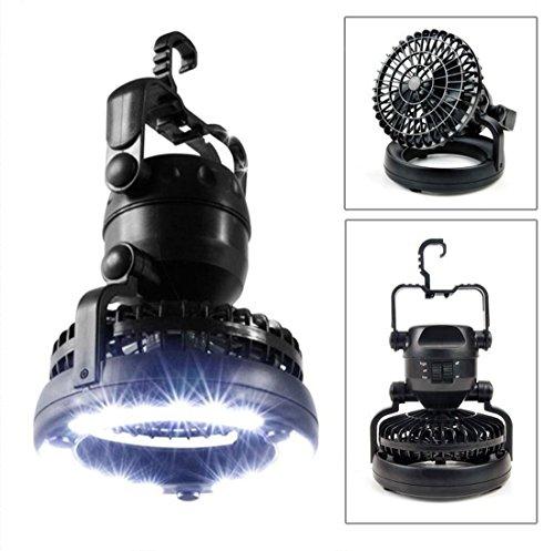 Gudelaa 2 in1 bewegliche LED kampierende Laterne mit Deckenventilator 18 LED beleuchtet für im Freien - Freien Im Hängenden Laternen