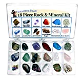 Rock and Mineral Educational Collection in Collection Box - 18 Pieces with description sheet and educational information. Limited Edition...