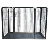 Pisces Extra Large Heavy Duty Pet Playpen with Plastic Floor for Dogs