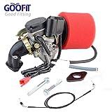 Goofit PD18J 18mm Vergaser Luftfilter Ansaugstutzen Gaszug Montage Kit für GY6 50ccm Scooter Go Karts Moped
