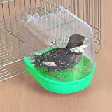 DragonPad Bagno per Uccelli, Vasca da Bagno Pensile per Animali Domestici per Gabbia di Piccoli Pappagalli