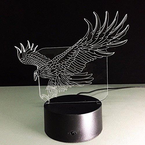 WHLQXD Commutateur De Mode Veilleuse Crafts Pittoresque 3D Lumières Touche Touche Créative Lumineuses Visuelles Interrupteur Conduit Gradient De Lumière Coloré Télécommande Contact Veilleuses