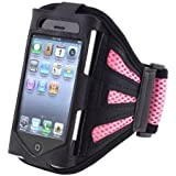 Outstanding Value Mesh Pink Running cubierta de la caja del brazal de Apple Iphone 4s / 4