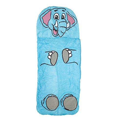 Yellowstone Lightweight Kids' Outdoor Jungle Sleeping Bag available in Elephant - Size 150 x 60 cm