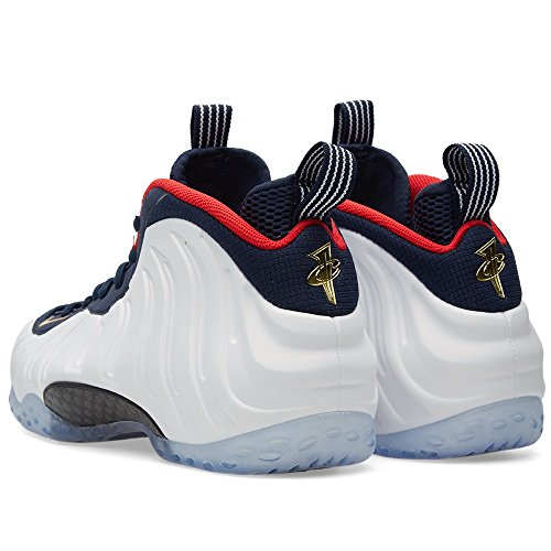 Nike Air Foamposite One Prm, espadrilles de basket-ball homme Negro (Obsidian / White-University Red)