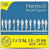 48 Hermoli Modellfiguren unbemalt - stehend 1:200 (WEISS)