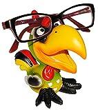 alles-meine.de GmbH Brillenhalter -  lustiger Vogel - Hahn  - stabil aus Kunstharz - universal Größe - für Kinder & Erwachsene / Brillenhalterung - lustiger Brillenständer - fü..