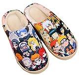 Cosstars Naruto Anime Anti-Rutsch Weich Warm Zuhause Hausschuhe Niedlich Plüsch Innen Schuhe