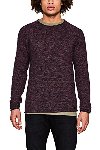 edc by ESPRIT Herren 997CC2I806 Pullover, Rot (Bordeaux Red 600), X-Large