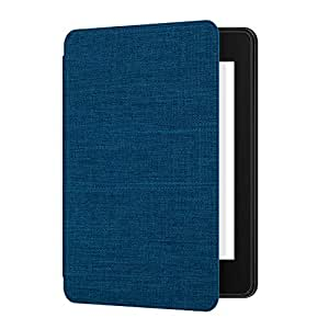 Ayotu Custodia in Tessuto per Kindle Paperwhite 2018 - Smart Cover con Auto Wake/Sleep - Compatibile con Amazon Tutto Nuovo Kindle Paperwhite (10ª Generazione - Modello 2018),K10 Blue