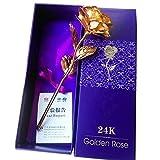 #7: Meenaz 24K Golden Rose Artistic Designer Gifts