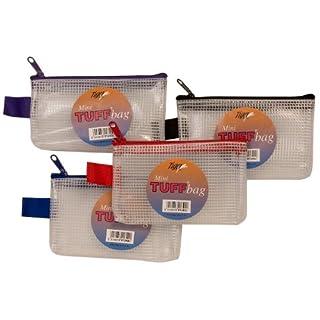 Mini (13 cm X 8 cm, transparent, verstärkt, Bags Tuff Bag Mappen mit Reißverschluss, strapazierfähig, 301340 (1 X 1 Stück)