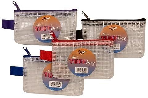Mini (13cm X 8cm) Tuff Bags Clear Reinforced Storage Folders Bags Zippa Zip Wallet Case Heavy Duty 301340 (6