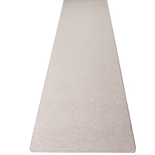 Schlingen Teppich Läufer Torronto Beige nach Maß - versandkostenfrei schadstoffgeprüft pflegeleicht antistatisch schmutzresistent robust strapazierfähig Flur Diele Eingang Wohnzimmer Küche, Größe Auswählen:80 x 200 cm