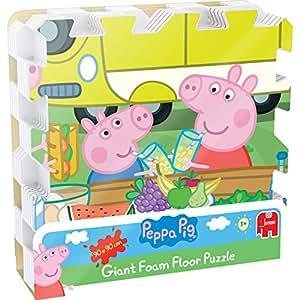 Peppa Pig – Puzzle de Sol Géant en Mousse– Puzzle 9 Pièces 90x90cm