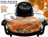 Big Boss 1300 Watt Oval Rapid Wave Oven and Turkey Roaster, Black, 17.5 Quart
