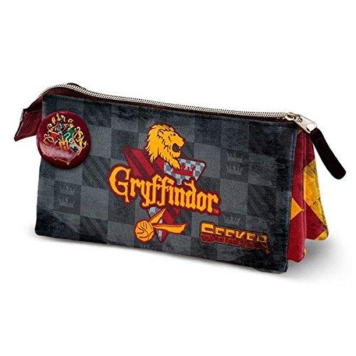 Harry Potter Quidditch Gryffindor Estuches, 24 cm, Rojo