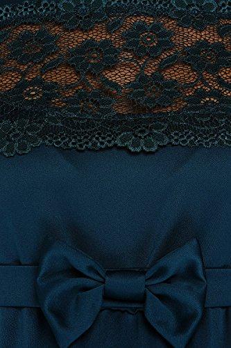 My Tummy Mutterschafts Kleid Umstands Kleid Marion grün Spitze Schleife - 3