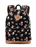Douguyan Girl's School Backpack for College Casual Daypacks School Bag Travel Backpacks E133B Black