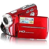 Videocamere, Besteker HD portatile Max 20,0 Mega Pixel 1280 * 720P Digital Video macchina fotografica DV schermo 3,0 pollici TFT LCD zoom digitale 16x con Microspur registrazione per amatori e bambini (Rosso)