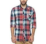 Wajbee Men's 100% Cotton Casual Shirt-L