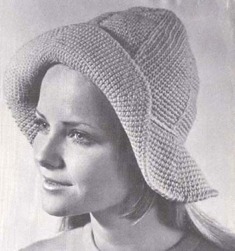 Sou'wester Crochet Floppy Hat Pattern (English Edition) (Hat Brim Floppy)