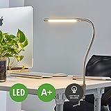 LED Lampe à poser Lionard (Moderne) en Gris en Métal e. a. pour Salon & Salle à manger (1 lampe,à A+) de Lampenwelt   Lampe à poser, lampe à pince, liseuse