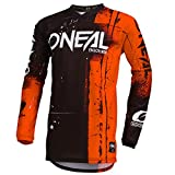 O'Neal Element Shred Kinder Motocross Jersey MTB Mountain Bike Fahrrad Enduro FR DH Trikot, 002E-Youth, Farbe Orange, Größe XL