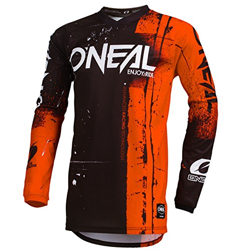 O'Neal Element Shred Kinder Motocross Jersey MTB Mountain Bike Fahrrad Enduro FR DH Trikot, 002E-Youth, Farbe Orange, Größe S