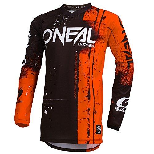 O'Neal Element Shred Kinder Motocross Jersey MTB Mountain Bike Fahrrad Enduro FR DH Trikot, 002E-Youth, Farbe Orange, Größe M