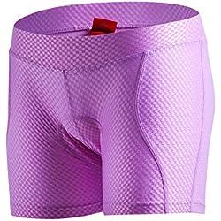 SANTIC Calzoncillos de Ciclismo para Mujeres,Pantalones Cortos de Bicicletas,Pantalón Interior de Ciclismo para Mujeres Violeta M