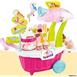 Mayatra's Kids Learning Toys Pretend Play Set Ice Cream Sweet Luxury Candy Cart Shop With Lights & Music