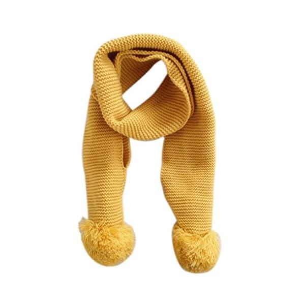 Bebé de invierno cálido cuello bufanda bufanda de punto color solido de la muchacha del muchacho 1