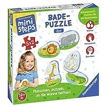Ravensburger Spieleverlag- Badepuzzle Puzzle da Bagno Zoo, Colore, 04538