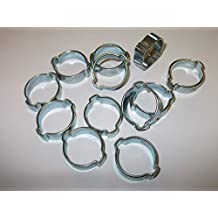 12x 17Mm-20Mm abrazadera de tubería de 3/4pulgadas Clip de oreja doble gasolina manguera de aire agua fusible Clips de acero