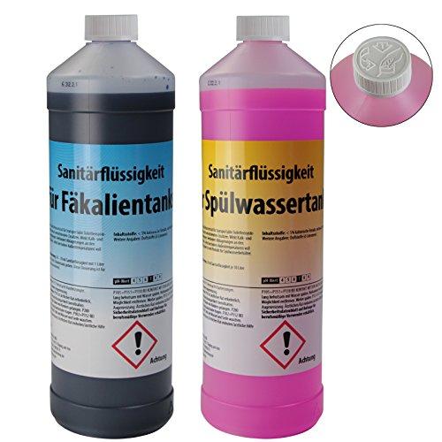 BB SPORT 2 x 1 Liter Sanitärflüssigkeit für transportable Toilettensysteme