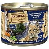 Natural Greatness Comida Húmeda para Gatos de Salmón y Pavo con Calabaza y Menta de Gatos. Pack de 6 Unidades. 200 gr Cada La