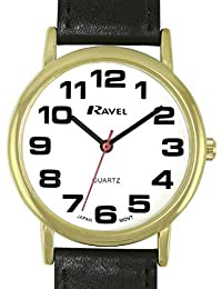 Ravel Classical Black Strap Getns Dress Watch R0105.05.1