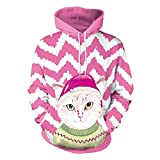 TIFIY Liebespaar Weihnachtspullover,Unisex Hässliche Pullover Weihnachten Hoodies Mode Neuheit Weihnachtsbluse Winter Warm Bluse Ugly Kapuzenshirt(G,EU 48/CN L)