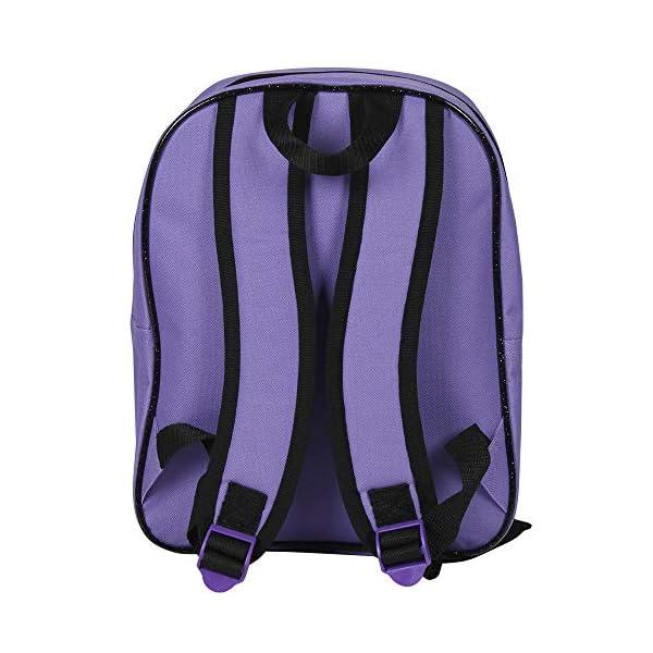 51CfHt 997L. SS600  - Descendants 13734 - Pequeña mochila de niña con gran compartimiento de la serie animada Disney Descendientes, morado