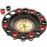 Divinz Shot Glass Roulette - Drinking Game Set (2 Balls And 16 Glasses)