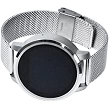 Bluetooth cámara inteligente muñeca reloj, niños GPS Tracker para Android Samsung HTC, resistente al agua para deporte compatible con Android y iOS sistema redondo con cámara salud y actividad reloj