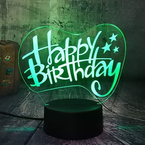 für Kinder / 7 Farbwechsel Nachtlicht Sammler / 3d Led Tisch Schreibtischlampe/Wohnkultur/Happy Birthday ()
