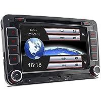 "A-Sure 7"" Zoll 2 Din Bluetooth FM Full 3D Map 3G DAB+ Autoradio OBD Navi DVD GPS Radio RDS Für VW Passat Golf 5 6 Touran Tiguan Transporter Multivan T5 Polo Jetta Caddy Skoda Seat Altea Z5W7"