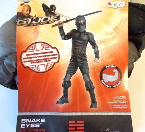 G.I. Joe Snake Eyes Muscle Child Costume Hard -