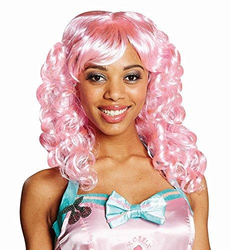 Candy Girl Kostüm Zubehör - Kostüm Zubehör Damen Perücke Candy Cotton